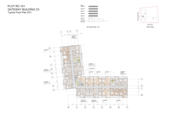 Gateway Building C3-Typical Floor Plan AV1