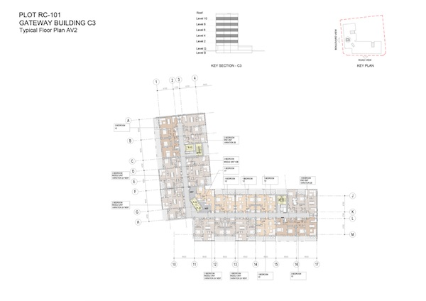 Gateway Building C3-Typical Floor Plan AV2
