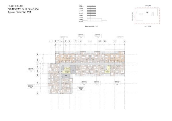 Gateway Building C4-Typical Floor Plan AV1