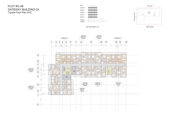 Gateway Building C4-Typical Floor Plan AV2