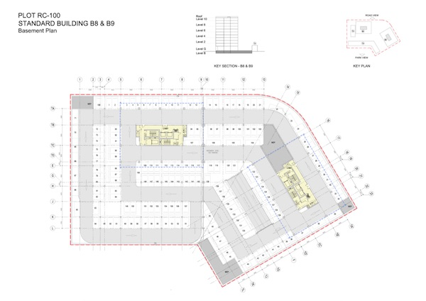 Standard Building B8 & B9-Basement Plan