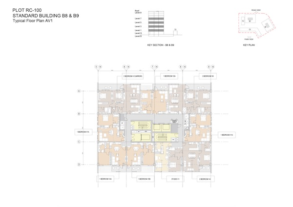 Standard Building B8 & B9-Typical Floor Plan AV1