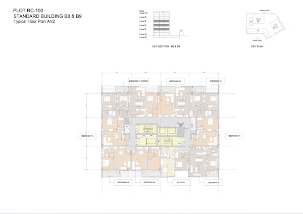 Standard Building B8 & B9-Typical Floor Plan AV2