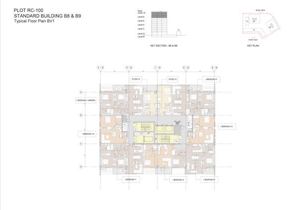 Standard Building B8 & B9-Typical Floor Plan BV1