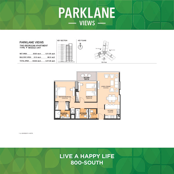 Two Bedroom Apartment Type P Middle Unit