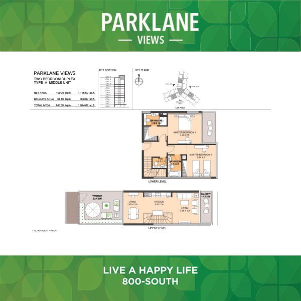 Two Bedroom Duplex Type A Middle Unit